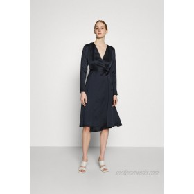NUIN BELTED WRAP MIDI DRESS Cocktail dress / Party dress black