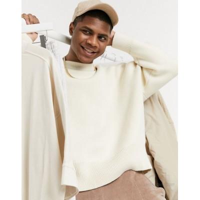 Weekday John Sweater in White