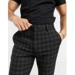 DESIGN chic super skinny pants in black check