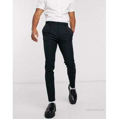 DESIGN super skinny smart pants in black