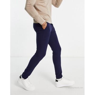 DESIGN super skinny smart pants in navy