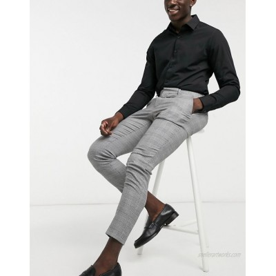 DESIGN super skinny smart pants in prince of wales check