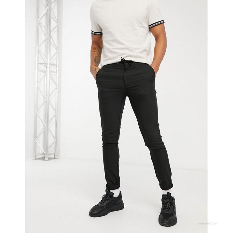 DESIGN super skinny smart sweatpants in black