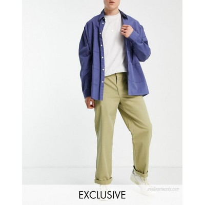 COLLUSION slim cargo pants in stone