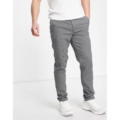 DESIGN super skinny smart pants in gray micro texture