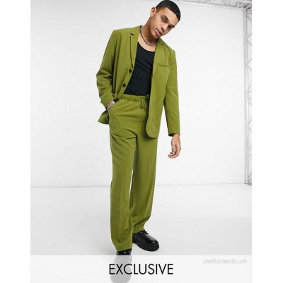 Reclaimed Vintage Inspired original fit suit with blazer and pants in khaki