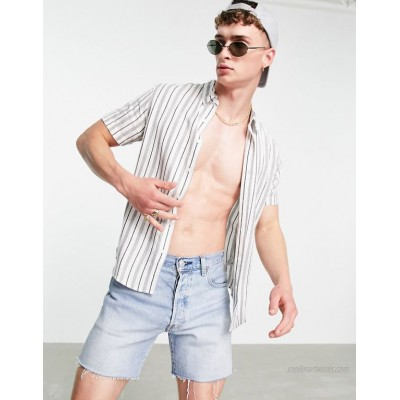 Guess short sleeve shirt in white stripe