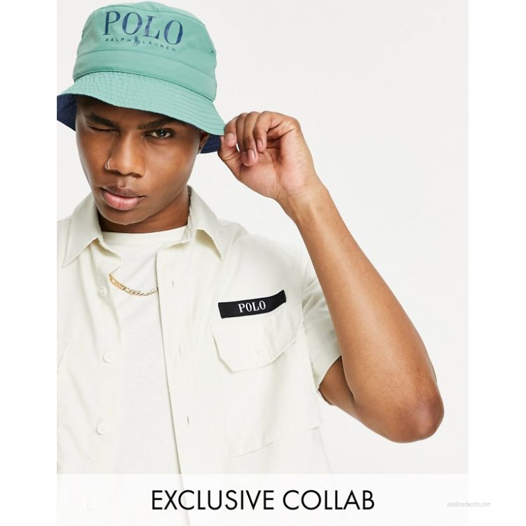 Polo Ralph Lauren x exclusive collab utility short sleeve overshirt in cream with backprint pony logo