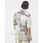 Bershka matching paisley patchwork shirt in ecru