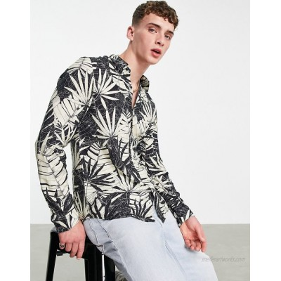 Guess long sleeve shirt in fossil print