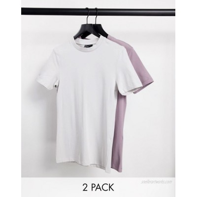 DESIGN 2 pack organic muscle fit t-shirt