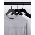 DESIGN organic 3 pack long sleeve t-shirt with crew neck
