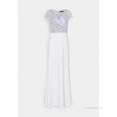 Lauren Ralph Lauren KRYSTAL CAP SLEEVE EVENING DRESS Occasion wear white/silver/white