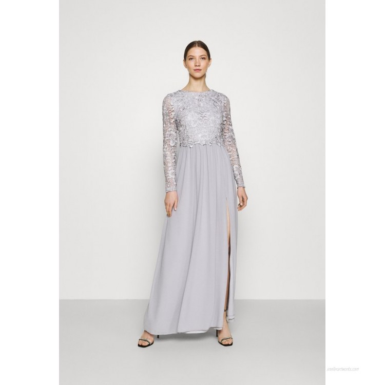 Nly by Nelly LACE TRIM GOWN Occasion wear pearl grey/grey