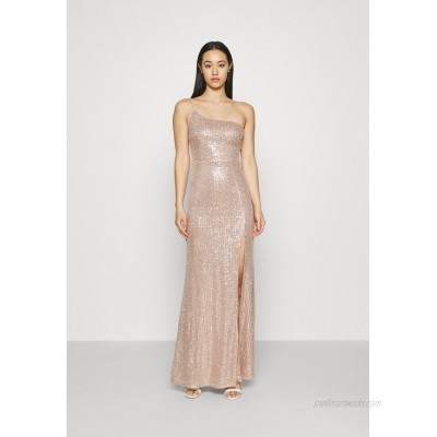 Nly by Nelly ONE SHOULDER SEQUIN GOWN Occasion wear dusty pink/pink