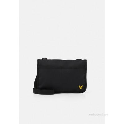Lyle & Scott FLAT POUCH - Across body bag - true black/black