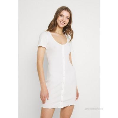 Glamorous MAYA BUTTON THROUGH MINI DRESS WITH SCOOP NECKLINE Shift dress cream/offwhite