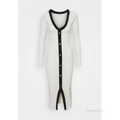 Missguided Tall BUTTON THROUGH CARDI DRESS Jumper dress white