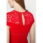 WAL G. MADELINE MIDI DRESS Shift dress red