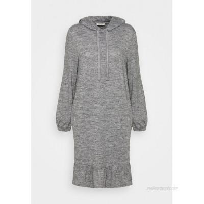 Freequent FQLIVANA Jumper dress med. grey melange/mottled light grey