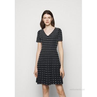 Milly POPCORN TEXTURE FLARE DRESS Jumper dress navy/silver/dark blue