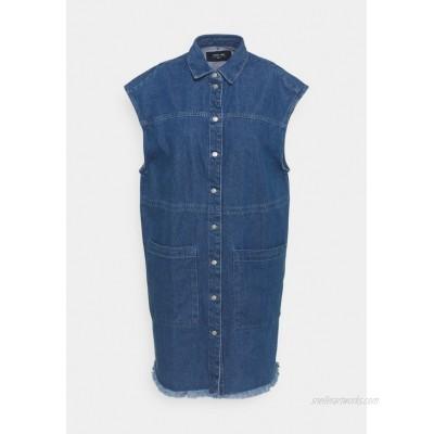 Noisy May NMALMA DRESS  Denim dress medium blue denim/blue denim