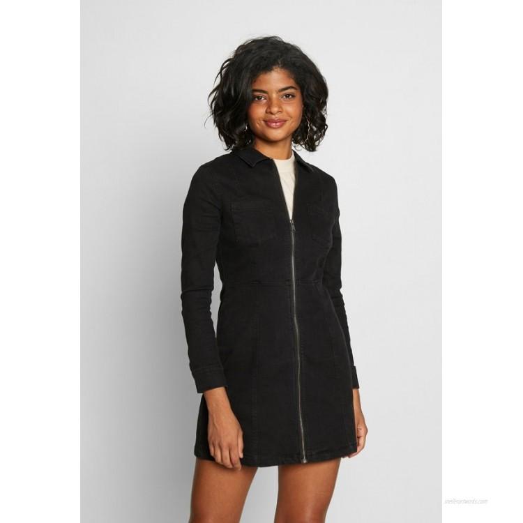 Noisy May NMLISA ZIP DRESS Denim dress black