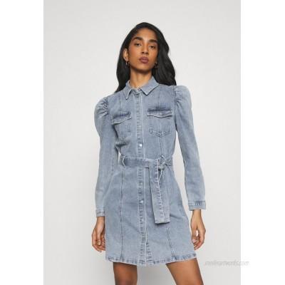 ONLY ONLMONICA LIFE DRESS Denim dress light blue denim/lightblue denim