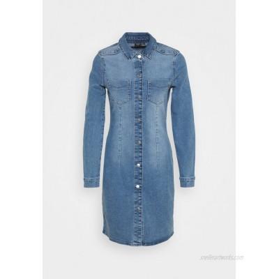 Vero Moda VMGRACE SLIM BUTTON Denim dress light blue denim/light blue